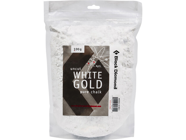 Black Diamond Solid White Gold Losse Kalk 100g